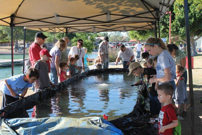 PK Gills stocks the annual Dobson Ranch fishing derby